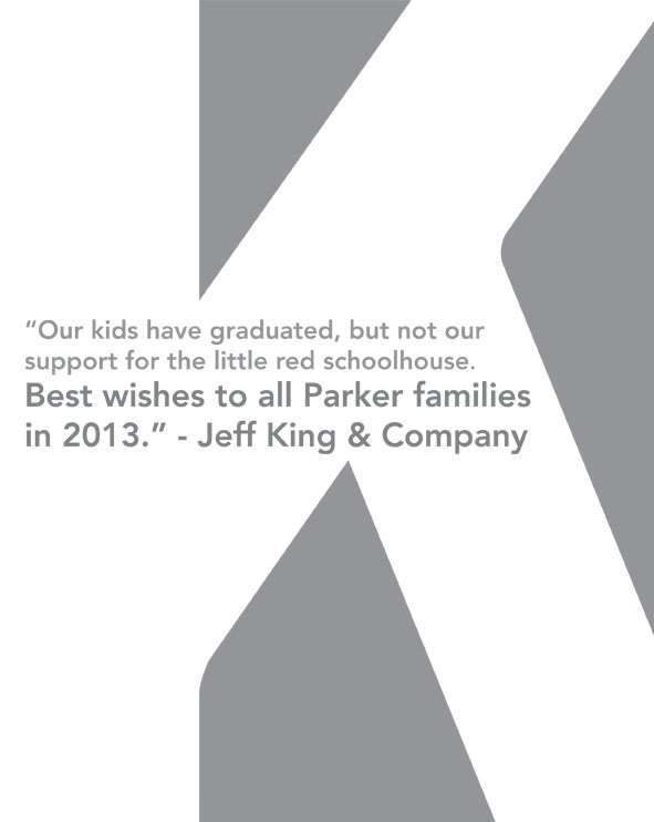 Jeff King Co ad for Parker auction Proud Sponsors of the 150 Parker Avenue School Auction