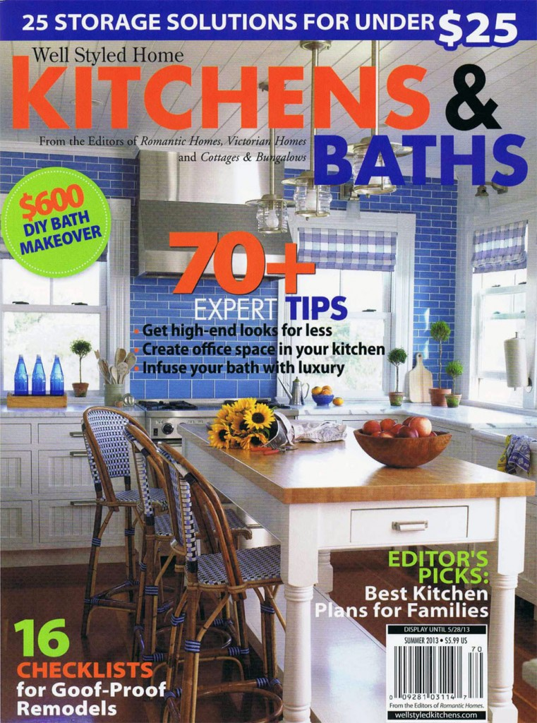 Kitchens Baths Cover web 761x1024 Fair Oaks Featured in Kitchens & Baths Summer 2013 Magazine