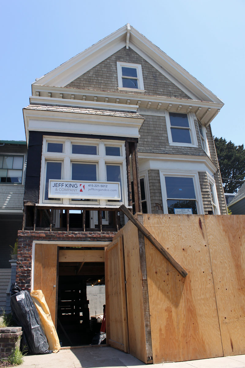 whole house remodel sf facade Remodeling San Francisco: LEED Platinum Construction In the Shell of a Classic Victorian