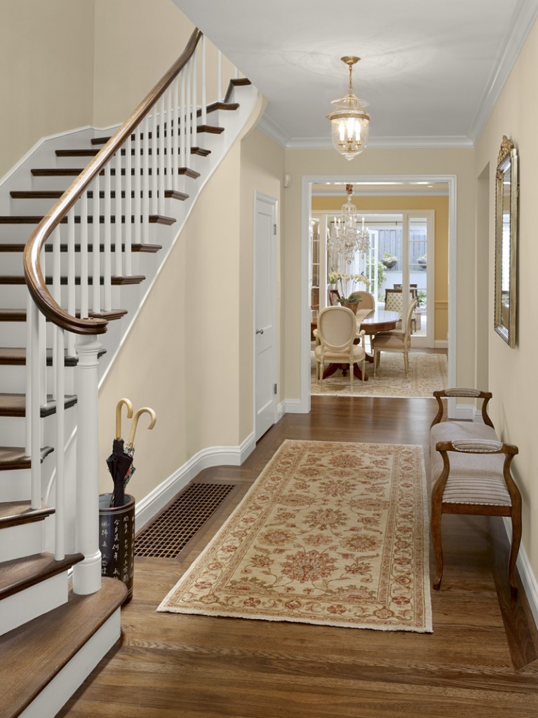 Hallway Staircase 767x1024 New Remodel: Marrying Traditional & Modern Style in Small Home