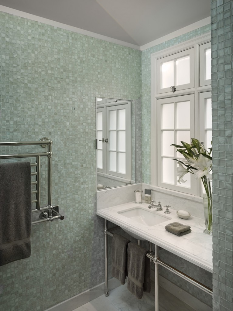 White Marble Bathroom 767x1024 New Remodel: Marrying Traditional & Modern Style in Small Home