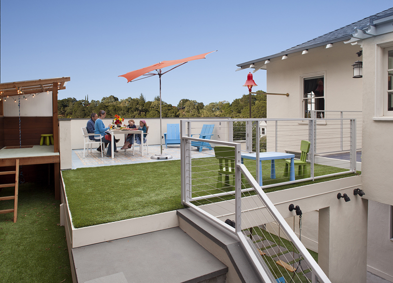 Astroturf upper patio Carport Design Makes for Creative Outdoor Living Space