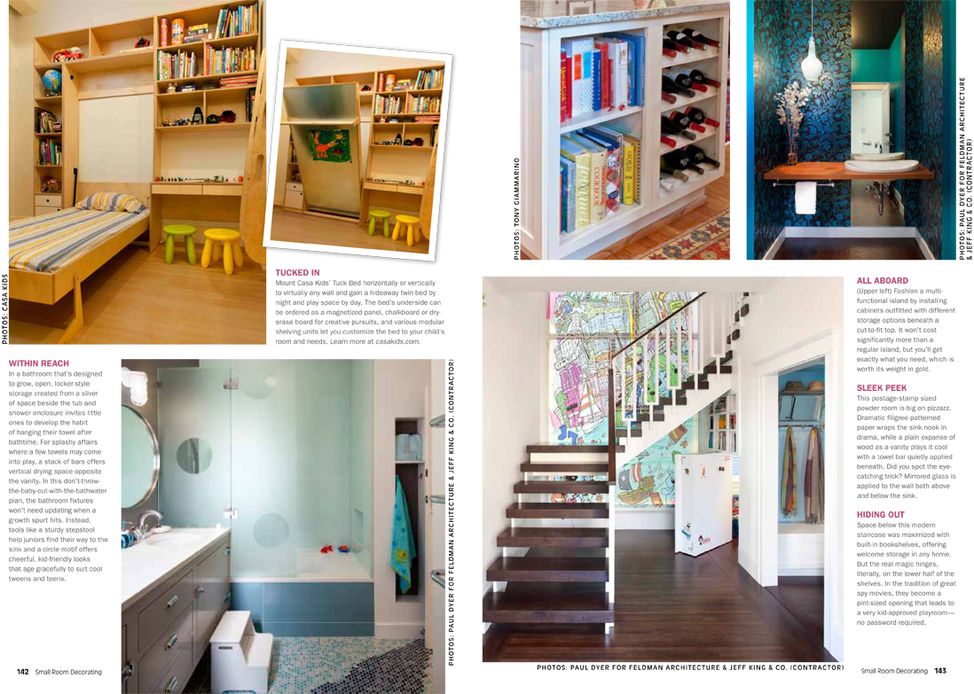 Jeff King Co Small Room Decoraitng 2 2 New Feature in Small Room Decorating Magazine