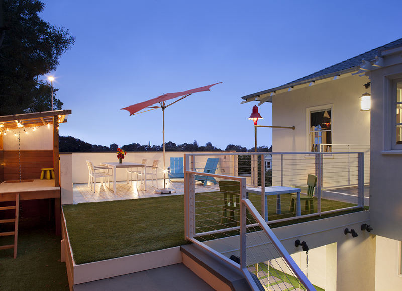 Patio Step Lighting Carport Design Makes for Creative Outdoor Living Space