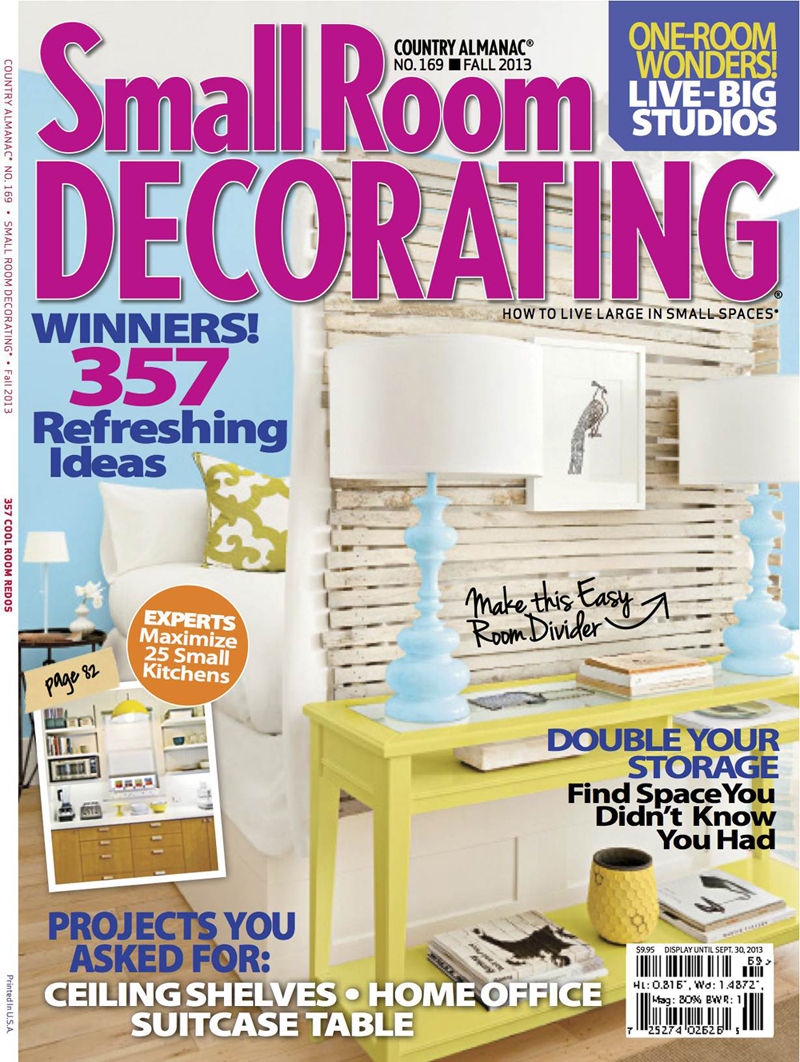Small Room Decorating Fall 2013 New Feature in Small Room Decorating Magazine