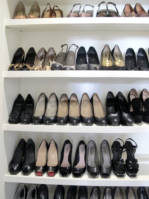 Built In Shoe Closet Details for Her: Custom Cabinetry for Shoes, Jewelry & More