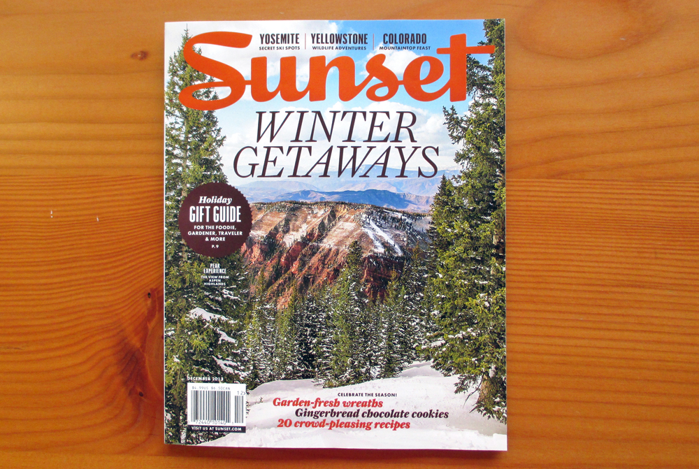 Sunset cover See Us in the Latest Issue of Sunset Magazine!