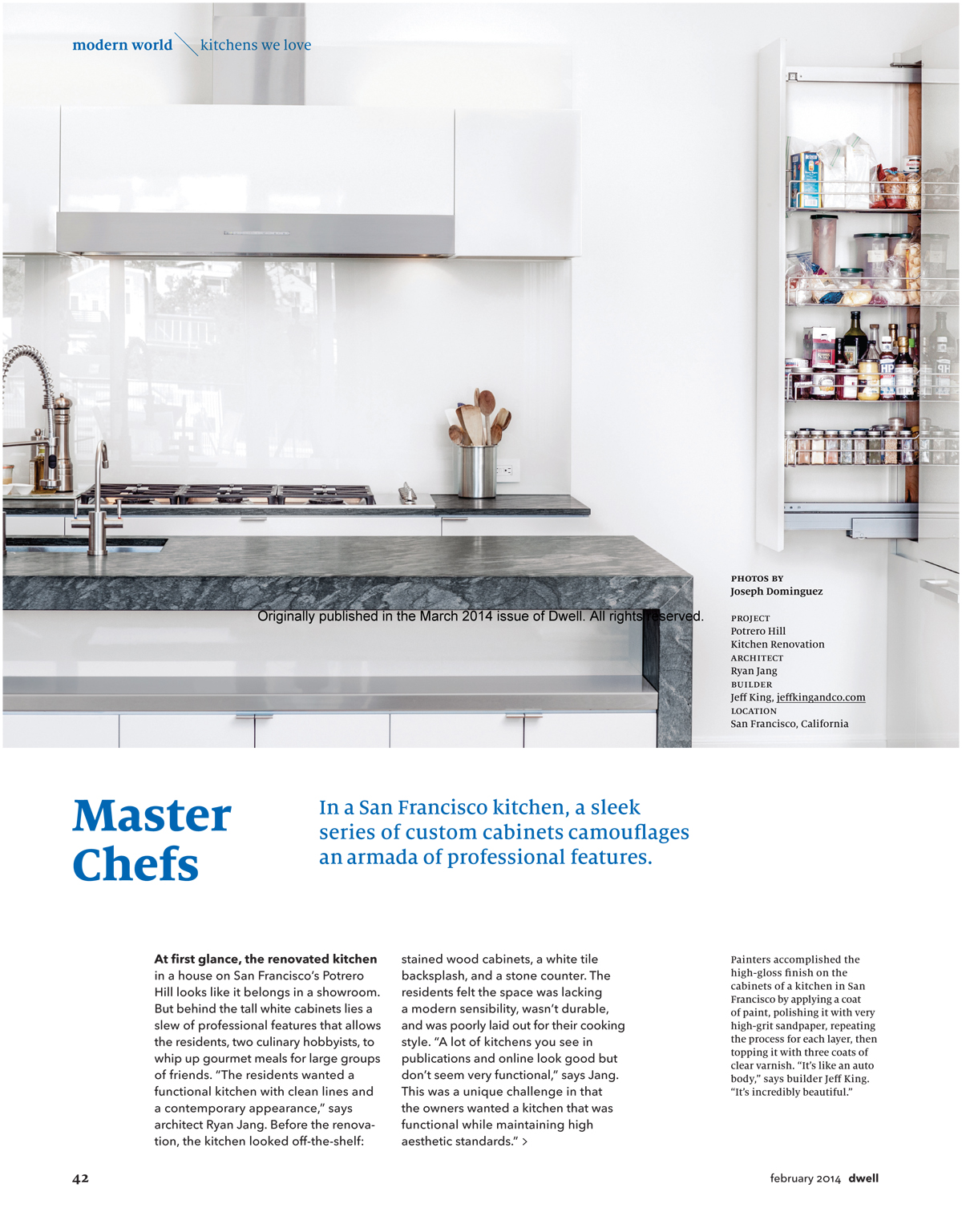 Dwell Kitchen Remodel Dwell Features Our San Francisco Master Chefs Kitchen