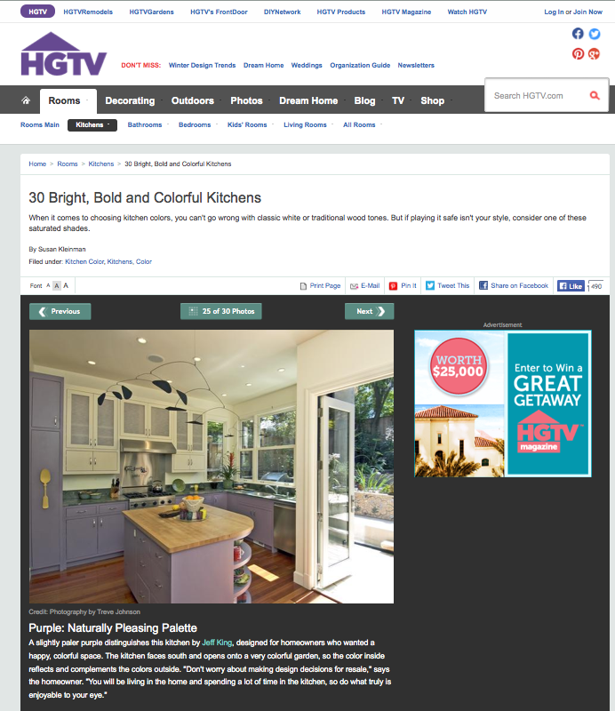 HGTV Colorful Kitchens HGTV Chooses Us for Bright, Bold & Colorful Kitchens