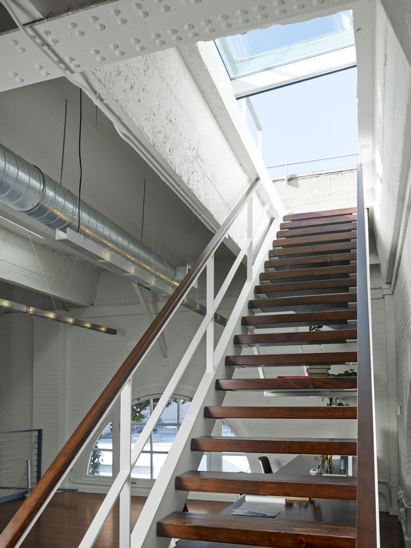 6 Retractable skylight with stairs Historic SOMA Loft for Live, Work, Art Making and Entertaining