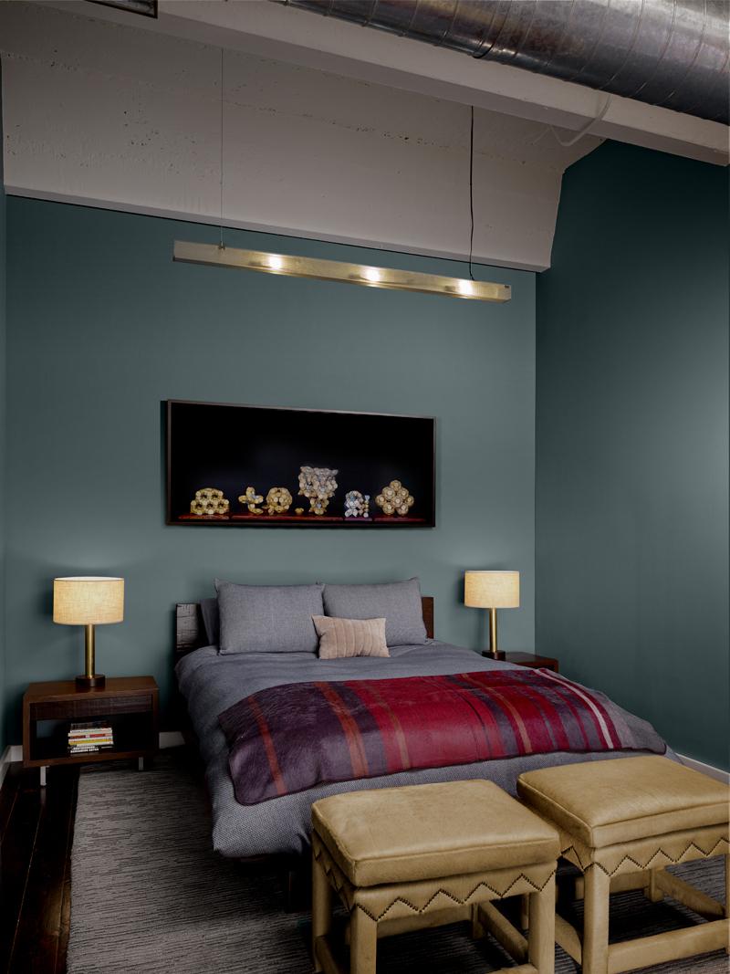 Modern bedroom remodel Historic SOMA Loft for Live, Work, Art Making and Entertaining