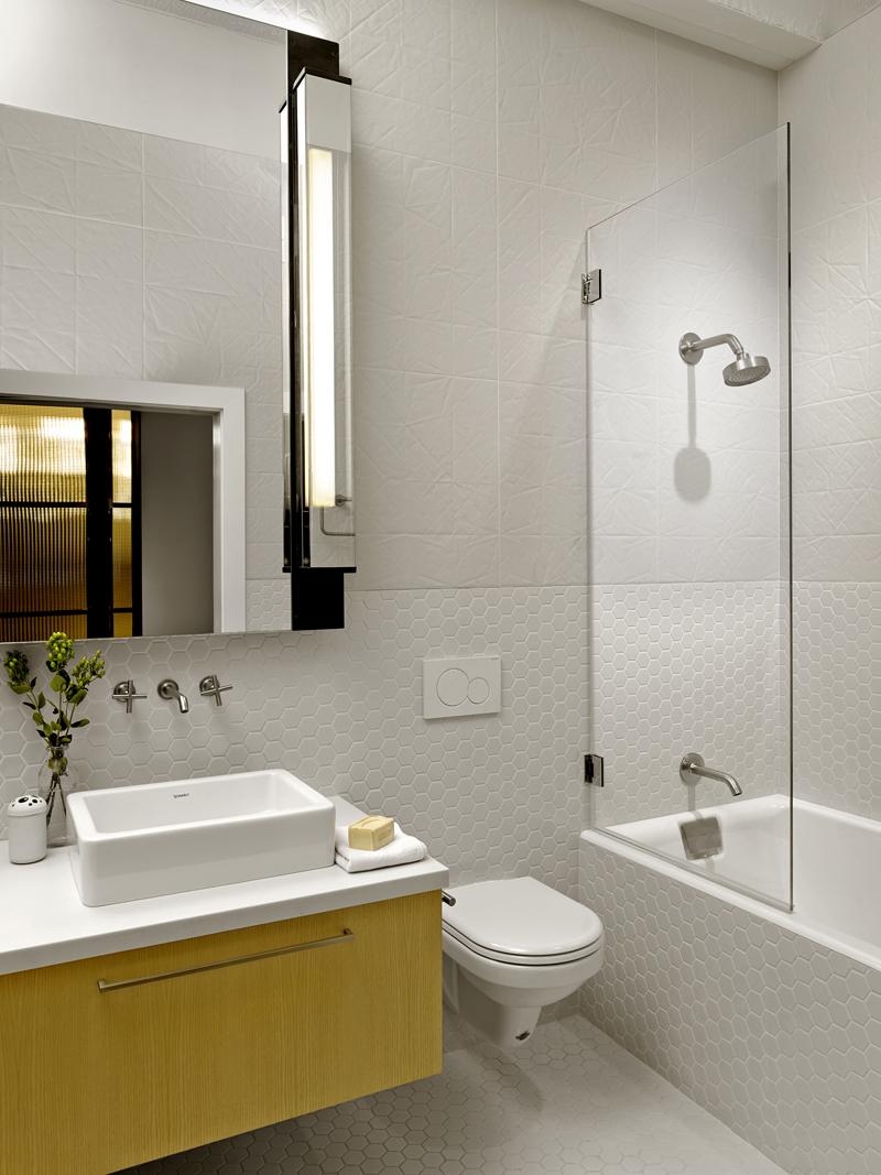 Modern tile bathroom Historic SOMA Loft for Live, Work, Art Making and Entertaining