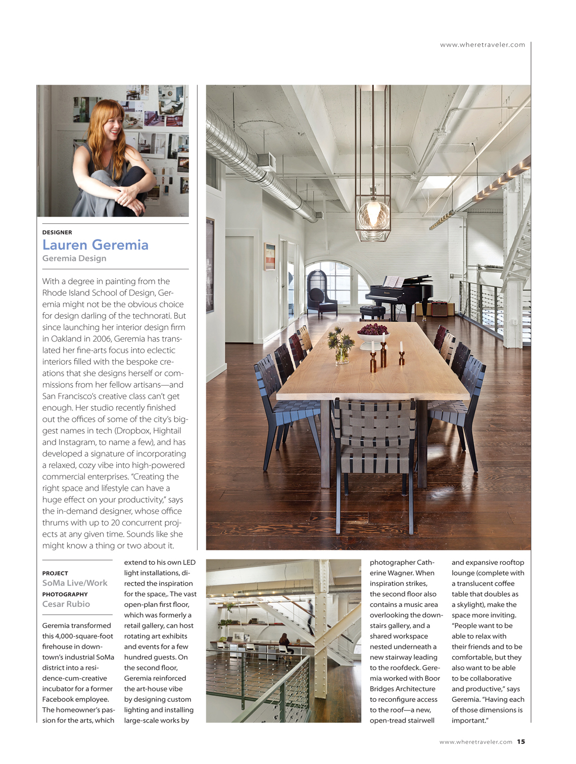 Where Magazine Soma Loft As Seen in Where Magazine: Our SOMA Loft