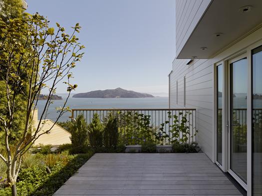 Alaskan Yellow Cedar decking Sausalito Hillside Deck Featured in Architects Newspaper