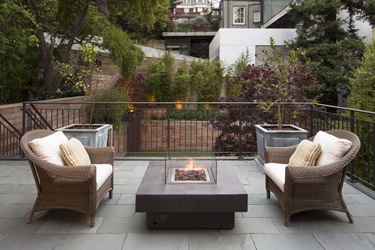 Bluestone Deck and Firepit Historic Renovation: Sophistication & Style for Family of Five