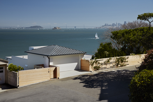 Carport and Cedar Privacy Fence Sausalito Hillside Deck Featured in Architects Newspaper