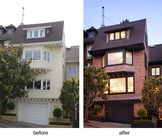 Edwardian remodel before after v4 Historic Renovation: Sophistication & Style for Family of Five