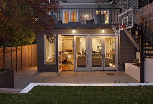 Red Cedar Shingle Facade Historic Renovation: Sophistication & Style for Family of Five