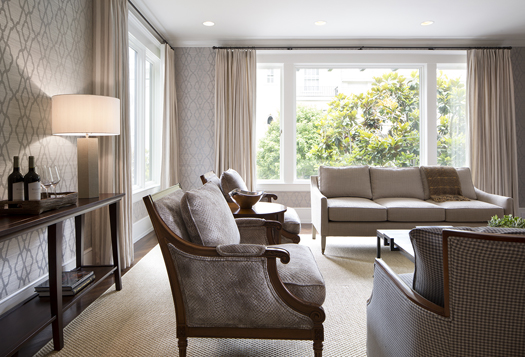 Traditional Living Room Renovation Historic Renovation: Sophistication & Style for Family of Five