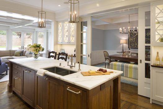 White Black Walnut Kitchen Remodel Historic Renovation: Sophistication & Style for Family of Five
